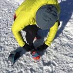 Snow running con los crampones Veriga Ice Track