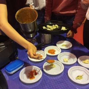 llenguado amb salsa de pebrot vermell